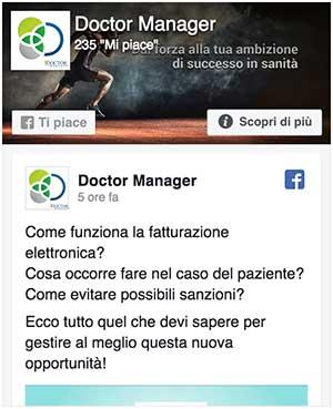 Collegamento alla pagine facebook di Doctor Manager