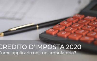 Credito d'imposta 2020: come applicarlo nel tuo ambulatorio?
