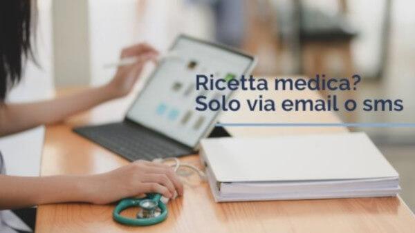 Coronavirus: la ricetta medica ora solo via email o sms