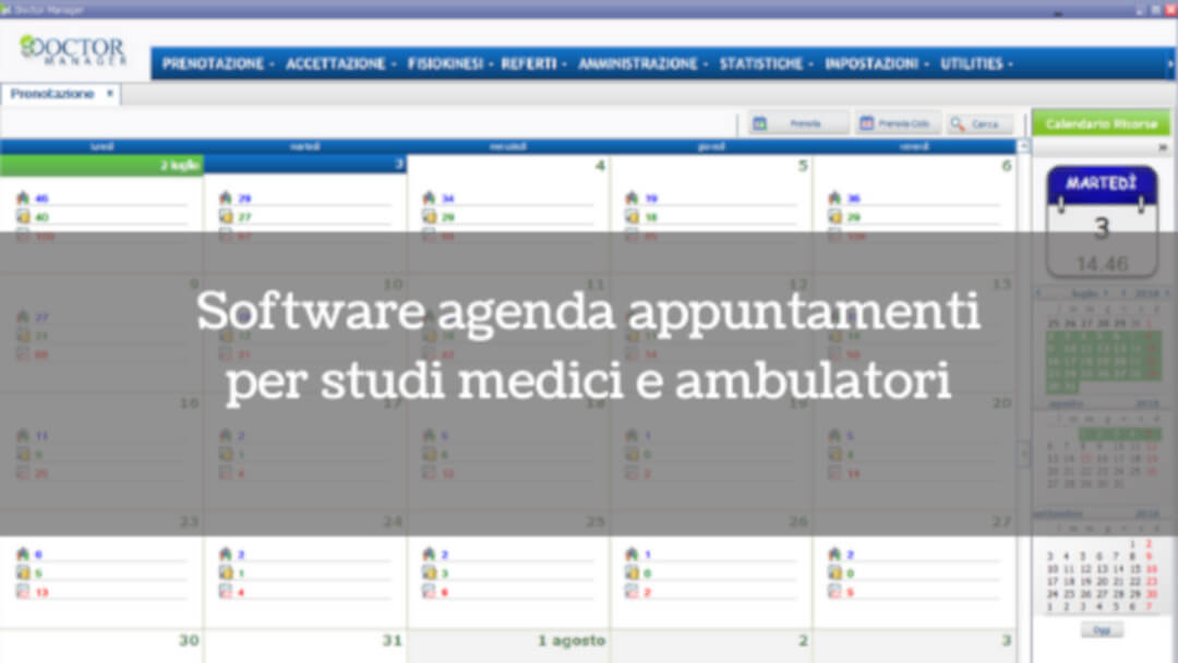 Software agenda appuntamenti per studi medici e ambulatori