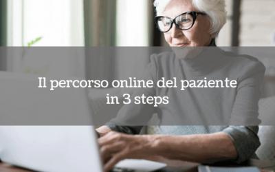 Il percorso online del paziente in 3 steps